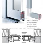 Metal reinforcement in uPVC front doors